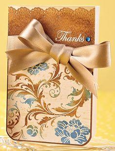 Blue Rhinestone Thanks Card by @Agata Pfister-Siuda