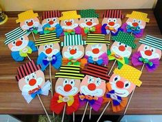 This cute clown theme. This cute clown theme. You can use it too … – This cute clown theme. You can also use these items for the Kids Crafts, Clown Crafts, Carnival Crafts, Carnival Decorations, Paper Christmas Decorations, Christmas Crafts For Kids, Diy And Crafts, Arts And Crafts, Paper Crafts