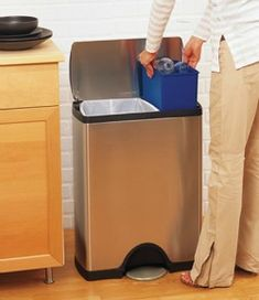 simplehuman rectangular step recycler {featured on Home Storage Solutions 101}