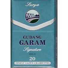 Gudang Garam Signature Lights Gudang Garam Signature gives you the satisfaction of taste, aroma, taste and a maximum of smoking satisfaction that can not be compared with other brands. Gudang Garam Signature Lights  : 1 carton contains 10 packs. 1 pack contains 20 cigarettes. Tar Volume 18 mg Nicotine Volume 1.2 mg Black Cigarettes, Smoking, Lights, Lighting, Tobacco Smoking, Smoke, Lamps, Vaping, Candles