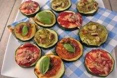 Mini courgette pizza's, een heerlijke gezonde snack!