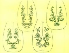 Patterns of Time Revised Pocket - Including 4 Embroidery Patterns, Robes-Gloves-Stockings-Aprons-Swimwear Simple Embroidery, Embroidery Patterns Free, Vintage Embroidery, Embroidery Designs, Costume Patterns, Doll Patterns, Sewing Patterns, 18th Century Dress, 18th Century Clothing