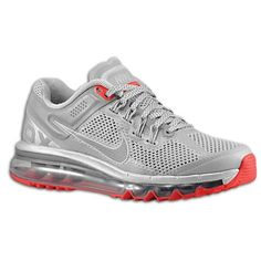 Nike Air Max + 2013 LE - Women's - Running - Shoes - Reflective Silver/Silver/Hyper Red