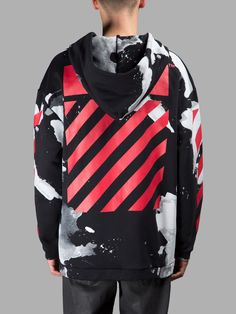OFF-WHITE C/O VIRGIL ABLOH MEN'S BLACK LIQUID SPOTS HOODIE