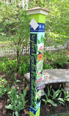Colorful Peace Poles Design Ideas 3