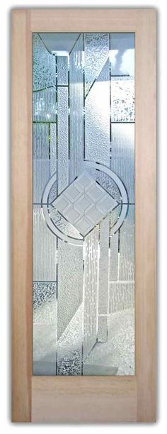 Matrix Chardonnay 3D Door - glass entry doors etched and carved glass by Sans Soucie Art Glass.