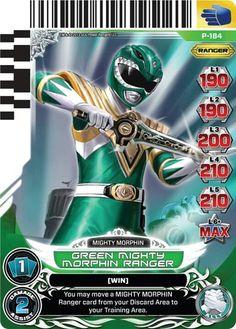 Green Mighty Morphin Power Ranger trading card