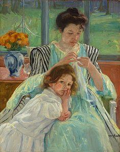 cassatt young mother sewing - Google Search