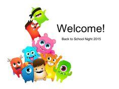 Presentation to introduce ClassDojo to parents on Back to School Night! Dojo Monsters, Monsters Ink, Class Dojo, Back To School Night, Kindergarten, Presentation, Flat Design, Kids, Google