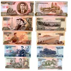 north korea currency   North Korean Won Currency Samples - Devaluation   Flickr - Photo ...