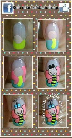 Trendy fails art tutorial for kids 43 Ideas Feet Nails, 3d Nails, Flower Nail Designs, Nail Art Designs, Spring Nails, Summer Nails, Luminous Nails, Nail Art For Kids, Manicure