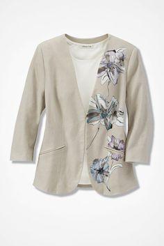 Floral Palette Linen Jacket - Coldwater Creek