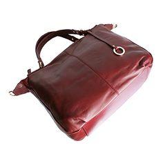 Sandy Italian Black Leather Satchel Handbag - £64.99