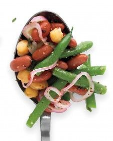 This easy three-bean salad can be served warm or at room temperature. It makes a nice side dish for grilled pork, blackened fish or chicken.