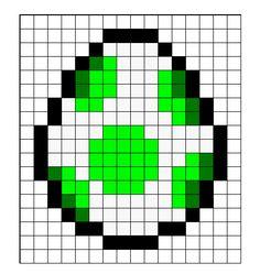 Super Mario Yoshi Egg Perler Bead Sprite Pattern - Pattern Only