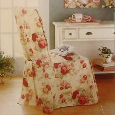 NWT WAVERLY NORFOLK VINTAGE ROSE SHABBY CHIC DINING CHAIR COVER BACKSIDE BOW NEW