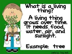 Learn all about living and non-living things!