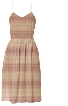 Muted Pastel Summer Dress. $125. 100% polyester /// multicolor, intricate, stripes, pattern, bohemian