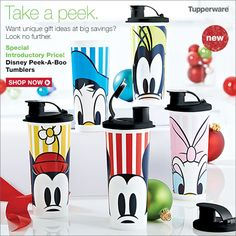 Another gift idea, great for teacher's or co-workers! Tupperware's Disney Tumbler Set on sale now for $35. You get 5 tumblers you can split them and add pencils or pens or Hershey's kisses, add a bow and your good to go!! 5 teacher or co-worker gifts and if you split the set they cost 7.00 each! That is a great gift for a little bit of money! my2.tupperware.com/hollybomberger