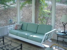 October 2011 Grand Prize Winner - Porch swing made out of an old wooden couch