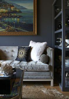spelndid navy blue velvet sofa. The Aestate  real talk velvet sofas 15 Affordable Ways to Elevate Your Living Room Aperture