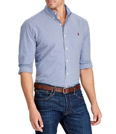Shop for Polo Ralph Lauren BIg & Tall Gingham Long-Sleeve Woven Shirt at Dillards.com. Visit Dillards.com to find clothing, accessories, shoes, cosmetics & more. The Style of Your Life.