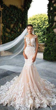 Elegant Prom Dresses, Wedding Dress Styles, Nice Dresses, Wedding Gowns, Dress First, The Dress, 2017 Bridal, Tuscan Wedding, Flower Dresses