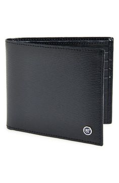 Men's Canali Saffiano Leather Wallet - Blue