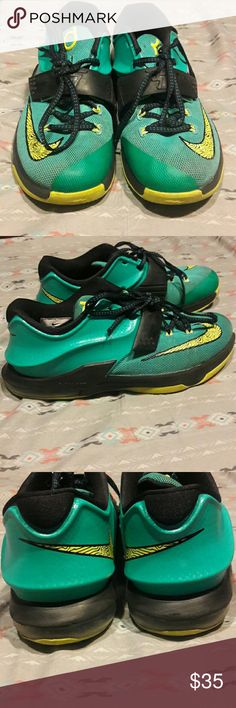 Nike Kd 7 Lightning Basketball Shoes Kid's KD 7's | Used | A Few Scuffs Mainly On Back Sole (3rd Picture) But Still Have A LONG Wear Life Left Nike Shoes Sneakers