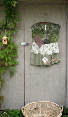 M upcycled clothing Funky dress Tunic blouse by lillienoradrygoods, $45.50