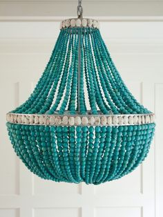 turquoise beaded chandelier | Amanda Nisbet