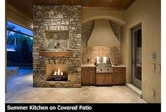 Summer Kitchen in courtyard? Florida House Plans, Florida Home, Outdoor Spaces, Outdoor Living, Mediterranean Design, My Pool, Luxury House Plans, Courtyard House, European House