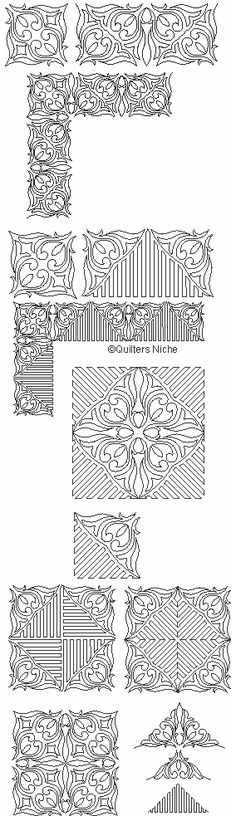 SCF-211 Hidden Treasures quilting designs