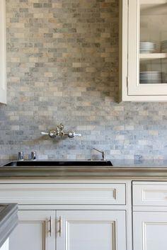 Wonderful backsplash! | William Hefner  - would also look great in a bath..