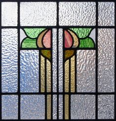 modern tulips stained glass pattern   Antique Stained Glass Collection – Authentic Scottish Glass
