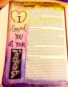 Romans 5:8. A very special entry in my journaling Bible. #biblejournaling #illustratedfaith