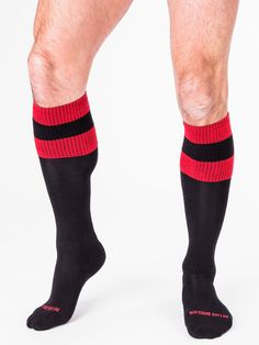 Original Barcode Berlin, Football Socks, schwarz/rot, 90143/103, sexy, SALE