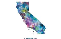 California Map #california #unitedstates #usa #map #art #prints #laptop #skins #tech #gift #colorful