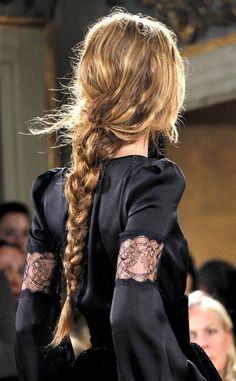 thick messy braid #hair