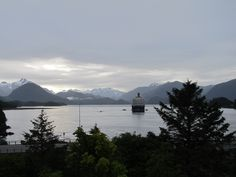 The Westerdam anchored in Sitka Alaska. @Holland America Line