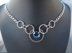 Stainless Steel Necklace Hardware Jewelry by BlackCatLinks on Etsy, $45.00