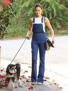 Star Tracks: Friday, March 11, 2016 | GIRL'S BEST FRIEND | Jamie Chung rocks denim overalls while walking her dog in Beverly Hills on Thursday.