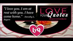 I love you  I am at rest with you   loveyourquotes