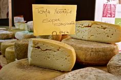 Toma, a traditional cheese from Piemonte, is eaten both soft and young, and aged and piccante