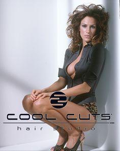 Dolores Trull la cara de la campaña 2005 de Cool Cuts Hair Studio.
