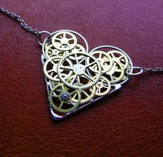 Clockwork Heart Necklace Fascination Elegant by amechanicalmind, $52.00