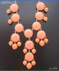 Color Full BIB Statement Bubble Necklace  Orange by BubbleWorld, $9.99