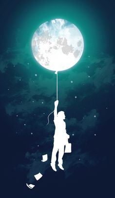 made by: Budi Satria Kwan , illustration (moon on a string) Banksy, Illustrations, Illustration Art, Creative Illustration, Coque Iphone 4, Iphone 5c, Iphone Cases, Apple Iphone, Moon Balloon