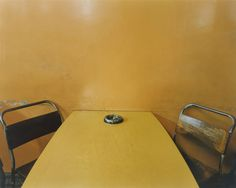 """Ashtray on Table, Morley's Cafe, Markham Moor, Nottinghamshire from the portfolio A1: The Great North Road, February 1981. Chromogenic color print, 7 11/16 x 9 9/16"""" (19.5 x 24.3 cm). Committee on Photography Fund. © 2012 Paul Graham"""