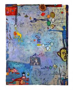 Mixed Media Collage on Canvas Boardl 24 x 30 cm Autumn Muse